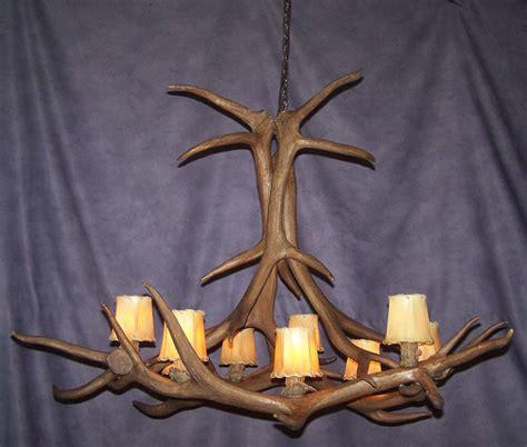 Elk Horn Chandeliers Antler Chandelier Reproduction Elk Antler Chandelier 9 Lights Rustic Lighting Ebay