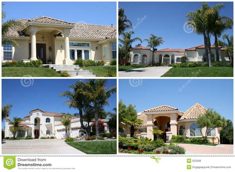 luxury homes collage stock photo image of front finance