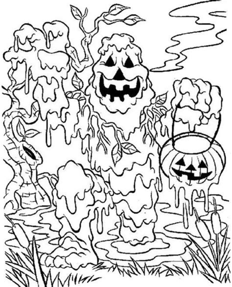 really scary halloween coloring pages scary halloween skull and spider coloring pages
