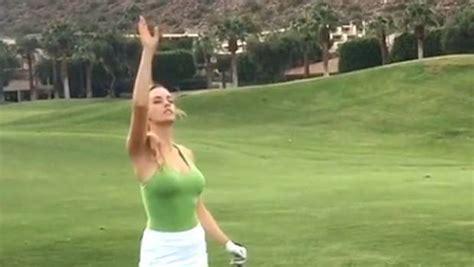 nude golf swing controversial american golfer paige spiranac instagrams
