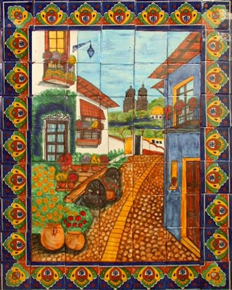 mexican wall murals kitchen tile mural mexican tiles 169 kitchen bath stairs
