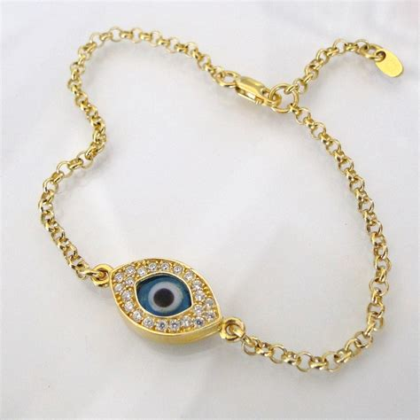 bracelet zipper galleries evil eye bracelet gold