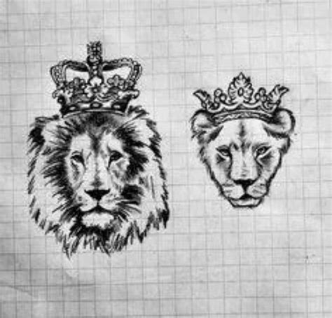 lioness with crown tattoo and lioness king and tattoos search