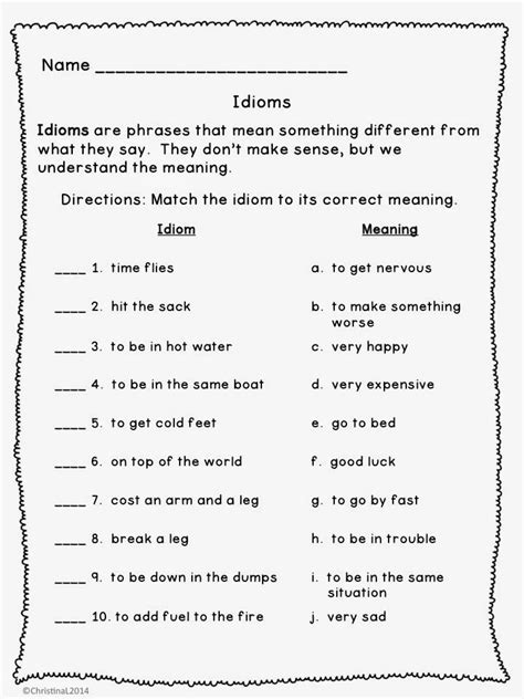 Language Arts Worksheets 7th Grade by 7th Grade Figurative Language Worksheets Search