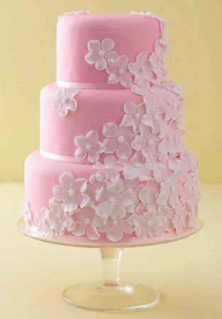 Pink Wedding Cake by Memorable Wedding Pink Wedding Cakes