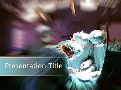 Medical Ppt Surgical Procedure Powerpoint Template Surgery Ppt Templates Free