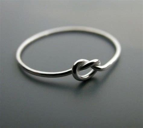 knot ring sterling silver knot ring dainty infinity