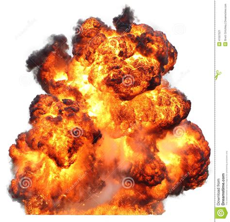 Explosion Fireball Isolated Fire Stock Image - Image of ... Explosion White Background