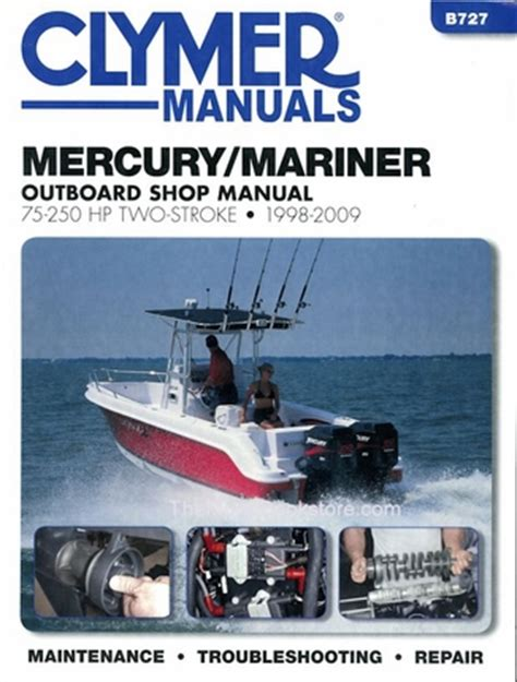 Mercury Mariner 75 250 Hp 2 Stroke Repair Manual 1998 2009
