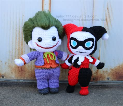 amigurumi joker pattern harley and mr j by aphid777 deviantart com on deviantart