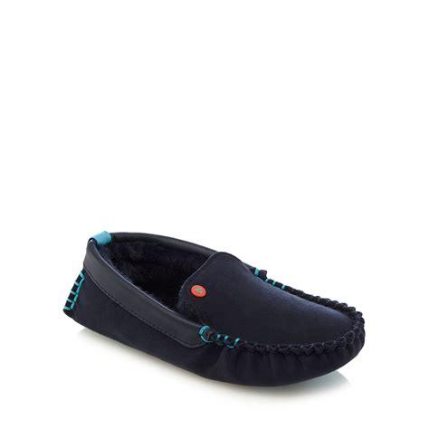 debenhams slippers baker by ted baker boys navy moccasin slippers from