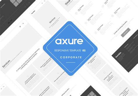 Axure Templates axure responsive template corporate website