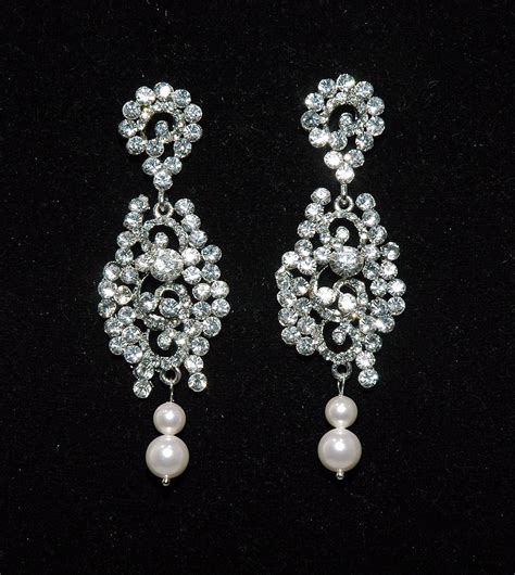 Strass Ohrringe Hochzeit by Bridal Wedding Earrings Vintage Style Rhinestone Earrigs