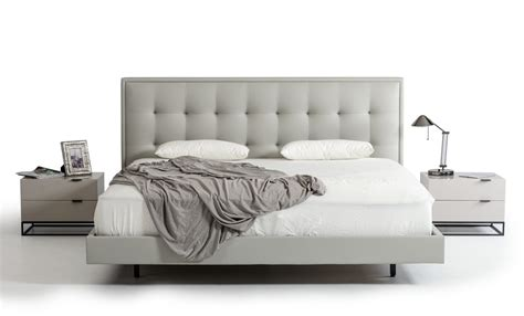modrest hera modern grey leatherette bed beds bedroom