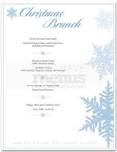 christmas brunch menu page 1