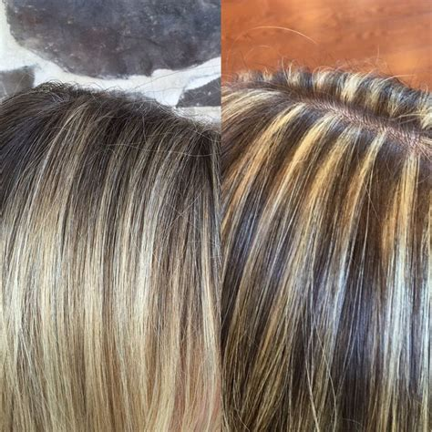 hair foil color ideas balayage vs foil hilights pinteres