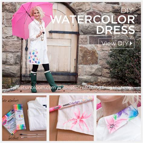 watercolor dress tutorial watercolor dress diy by trinkets in bloom