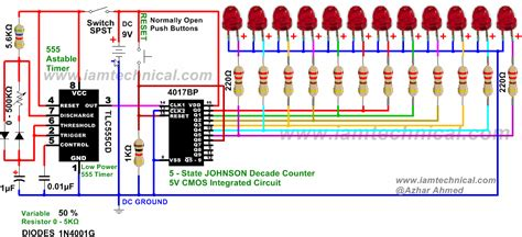 beautiful running led animated demo circuit designed running light led circuit diagram circuit diagram images