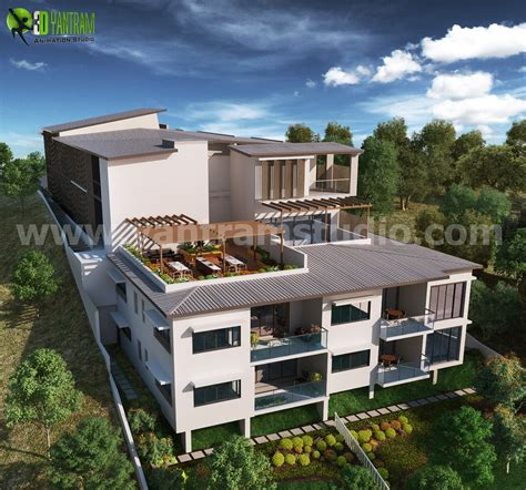 up hill exterior house design ideas by architectural