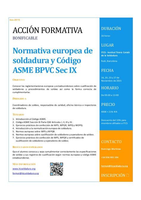 asme bpvc section ix normativa europea de soldadura y c 243 digo asme bpvc sec ix