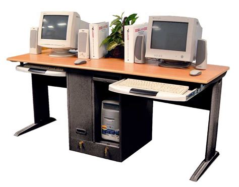 Computer Desk For Two Computers Woodwork Dual Computer Desk Pdf Plans