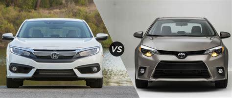 Toyota Civic 2016 Honda Civic Vs 2016 Toyota Corolla