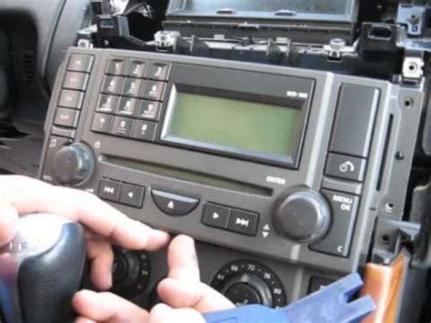 remove radio cd changer  range rover