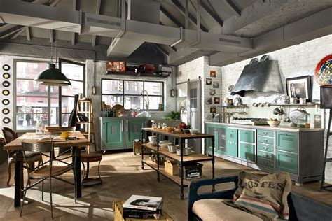 industrial chic home decor vintage and industrial style kitchens by marchi cucine