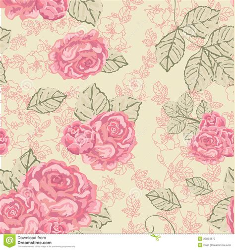 pattern vintage rose the gallery for gt vintage rose pattern vector