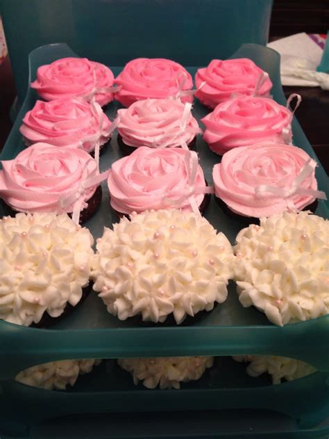 Baby Shower Pink Cupcakes by Floral Pink White Baby Shower Cupcakes