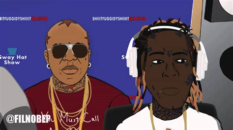 young thug cartoon young thug disses lil wayne rich homie quan ain t gay