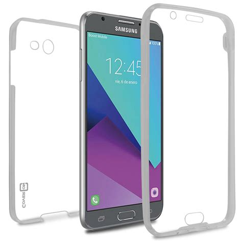 Samsung Galaxy J7 Prime Front Back Clear Tpu Soft Cover Casing clear samsung galaxy j7 prime j7 sky pro halo tpu wrapguard series coveron cases