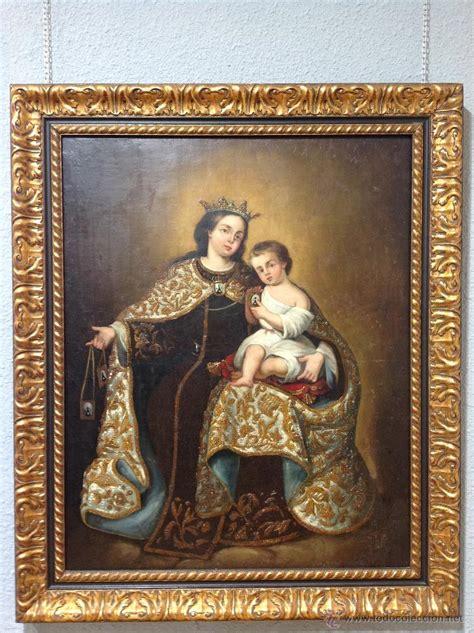cuadros del siglo xviii antiguo cuadro de la virgen del carmen s xviii comprar