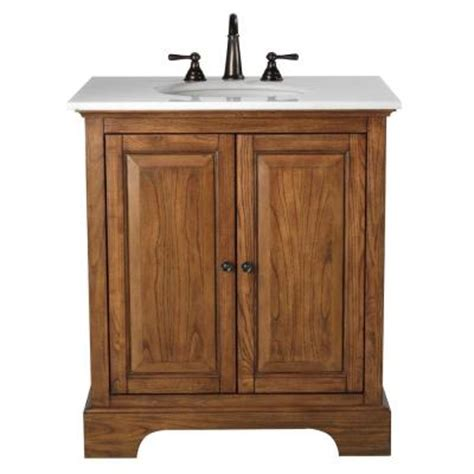 Weathered Oak Vanity by Home Decorators Collection Montaigne 31 In Vanity In