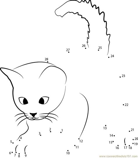 printable dot to dot cat cats cat dot to dot printable worksheet connect the dots