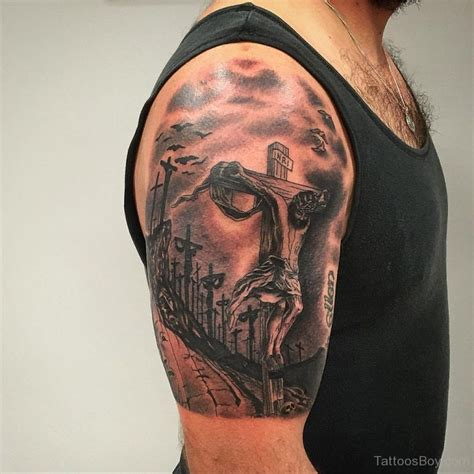 bicep cross tattoos jesus tattoos designs pictures page 7