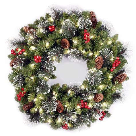 Awesome Outdoor Pre Lit Christmas Tree #2: Wreath.jpg