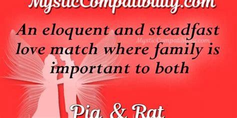 pig rat compatibility mystic compatibility