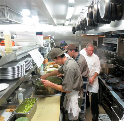 in the kitchen the strand house restaurant kitchen gayot s blog