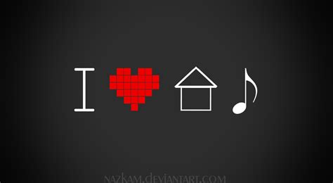 i love house music logo how to start making house music