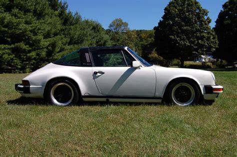 porsche targa white porsche 1987 911 targa white 88000 forza