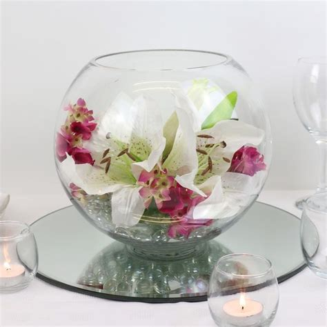 Fish Bowl Vase Decoration Ideas by Vase Centrepiece Centerpieces Table