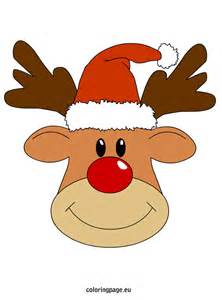 Reindeer christmas coloring page