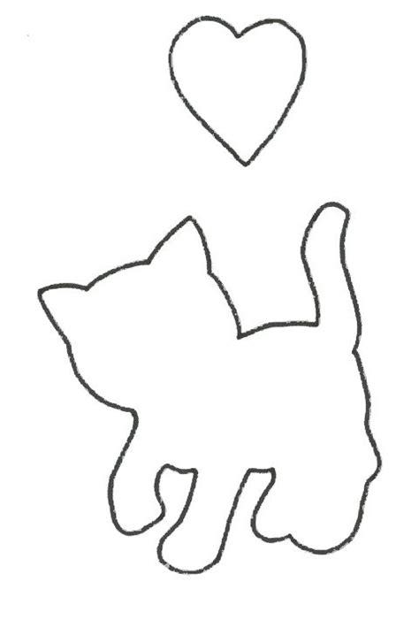 Best 25 Cat Applique Ideas On Pinterest Cat Template Cat Pattern And Free Applique Patterns Free Applique Templates