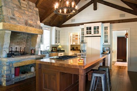 kitchen fireplace design ideas 10 rustic kitchen designs that embody country