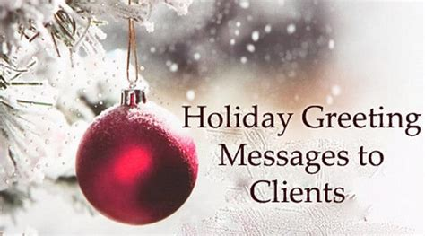 sample holiday greeting messages  clients