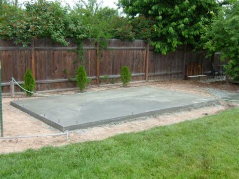 Cement Pad For Shed by Concrete Pad