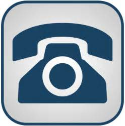 Blue and white telephone icon png clipart image iconbug com