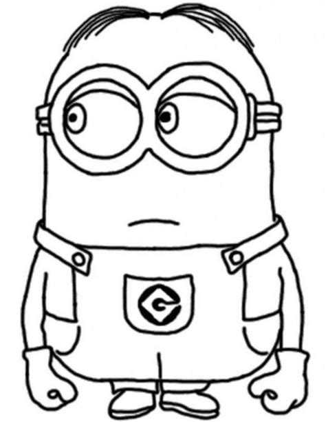 baby minion coloring page dave the minion despicable coloring pages los minions