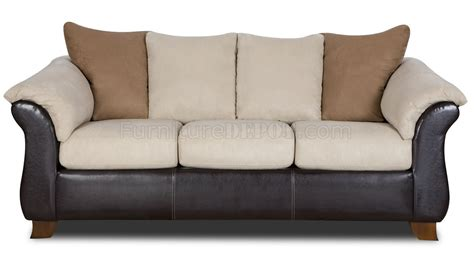 combo microfiber sofa loveseat set w dark bonded leather